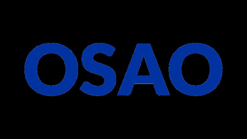 OSAOn logo. Linkki OSAOn verkkosivuille.